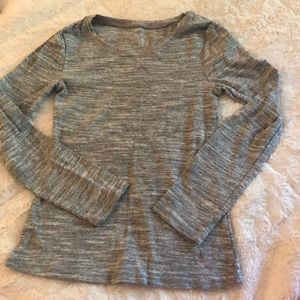 Gray justice shirt size 8 long sleeve
